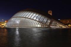 Valencia arkitektonisk komplex stad av konster och vetenskaper royaltyfria foton