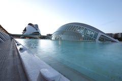 Valencia arkitektonisk komplex stad av konster och vetenskaper fotografering för bildbyråer
