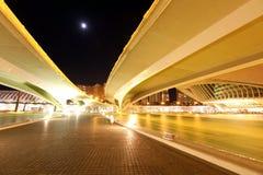 Valencia arkitektonisk komplex stad av konster och vetenskaper royaltyfria bilder