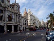 Valencia Avenue imagem de stock royalty free