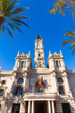 Valencia Ayuntamiento city town hall building Spain Royalty Free Stock Images