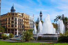 Valencia Ayuntamiento sq Casa Ferrer and Noguera Royalty Free Stock Image