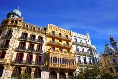 Valencia Ayuntamiento sq Casa Ferrer and Noguera Royalty Free Stock Photos