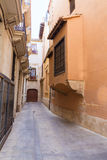 Valencia backstreet in Trinquet de Cavallers street Spain Royalty Free Stock Photo