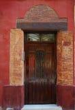 Valencia Barrio del Carmen door old town spain Stock Photography