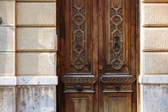 Valencia Barrio del Carmen door old town spain Royalty Free Stock Images