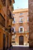 Valencia barrio del Carmen street facades Spain Stock Photos