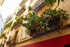 Valencia barrio del Carmen street facades Spain Stock Images