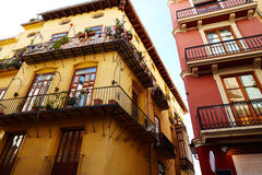 Valencia barrio del Carmen street facades Spain Stock Photos