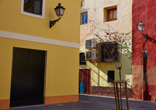 Valencia Barrio del Carmen street old town Spain Stock Images