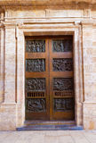 Valencia Basilica  church door Royalty Free Stock Photos