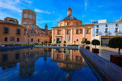 Valencia Basilica Desamparados and Cathedral Royalty Free Stock Images