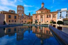 Valencia Basilica Desamparados y catedral Imagen de archivo libre de regalías