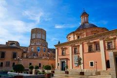 Valencia Basilica Desamparados y catedral Fotos de archivo libres de regalías
