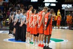 Valencia Basket en de Mand van Bilbao Stock Afbeeldingen