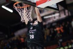 Valencia Basket en de Mand van Bilbao Royalty-vrije Stock Afbeeldingen