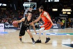 Valencia Basket en de Mand van Bilbao Royalty-vrije Stock Foto's