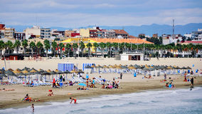 Valencia beach Royalty Free Stock Photography