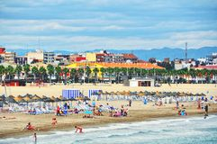 Valencia beach, Spain Royalty Free Stock Photos