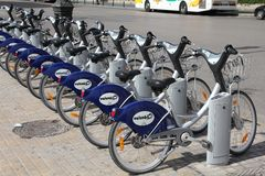 Valencia bicycle sharing Royalty Free Stock Photo