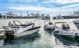 Valencia Boat Show en Marina Real Juan Carlos I fotos de archivo libres de regalías