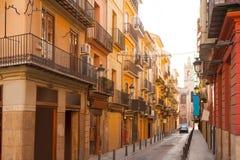 Valencia Bolseria Street in Barrio del Carmen del centro Immagine Stock Libera da Diritti