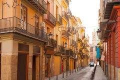 Valencia Bolseria Street in Barrio del Carmen downtown Royalty Free Stock Image