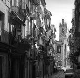 Valencia Bolseria street Barrio del Carmen Spain Stock Photos