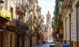 Valencia Bolseria street Barrio del Carmen Spain Stock Photography