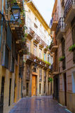 Valencia Carrer del Tossalet traditional street Spain Royalty Free Stock Photography
