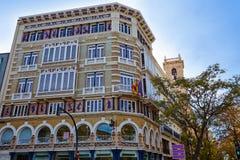 Valencia Casa Isla de Cuba in La Paz street Royalty Free Stock Photos