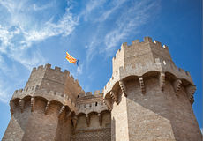 Valencia castle Royalty Free Stock Photo
