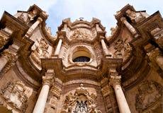 Valencia Cathedral. The Main Door (Puerta de los Hierros) of Valencia Cathedral. It was built between 1713-1728 by the German Konrad Rudolf Royalty Free Stock Image