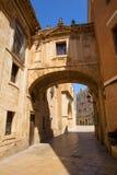Valencia Cathedral Arch Barchilla street Stock Photo