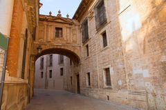 Valencia Cathedral Arch Barchilla street at Spain Stock Photo