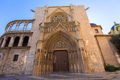 Valencia Cathedral  door Royalty Free Stock Image