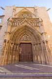Valencia Cathedral  door Royalty Free Stock Photography