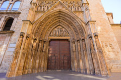 Valencia Cathedral  door Royalty Free Stock Images