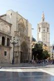 Valencia Cathedral door Royalty Free Stock Photo