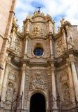 Valencia cathedral facade plaza de la Reina Royalty Free Stock Image