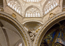 Valencia Cathedral Interior Royalty Free Stock Photography