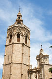 Valencia Cathedral and the Miguelete Stock Image