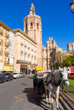Valencia cathedral and Miguelete in spain Royalty Free Stock Photo