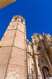 Valencia cathedral and Miguelete in spain Stock Photography