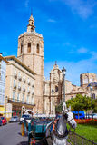 Valencia Cathedral and Miguelete tower Micalet Royalty Free Stock Image