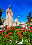 Valencia Cathedral and Miguelete tower Micalet Royalty Free Stock Photo