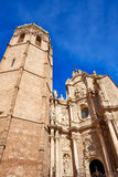 Valencia Cathedral and Miguelete tower Micalet Stock Photography