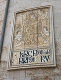 Valencia Cathedral Panel royalty free stock photos