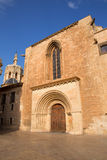 Valencia Cathedral romanesque door Puerta Palau Almoina Royalty Free Stock Photos