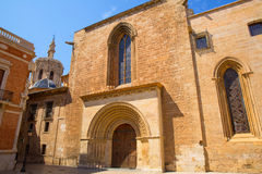 Valencia Cathedral romanesque door Puerta Palau Almoina Stock Photos